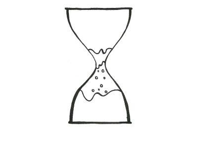 Hourglass sand